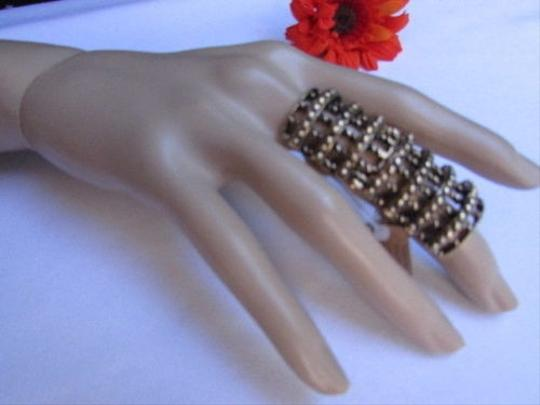 Other Women Statement Long Metal Trendy Big Fashion Wide Ring Gold Nyc