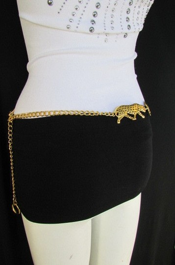 Other Women Gold Metal Tiger Chains Fashion Belt Panther Hip Waist 26-36