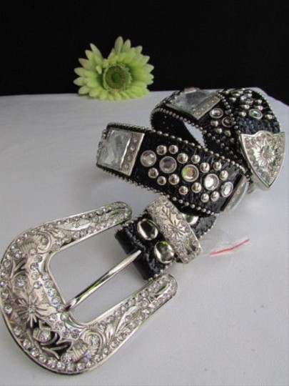 Preload https://item2.tradesy.com/images/women-black-leather-western-multi-mirrors-belt-rodeo-silver-buckle-33-38-4288681-0-0.jpg?width=440&height=440