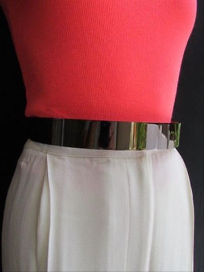 Other Women Hip High Waist Full Pewter Gunmetal Metal Plate Fashion Belt One