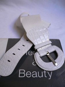 Women Low Hip High Waist Elastic White 3 Wide Fashion Belt 26-38