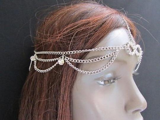 Other Women Head Metal Chain Jewelry Grecian Circlet Silver Beads