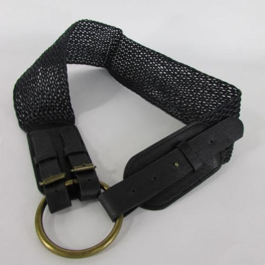Other Women Antique Gold Metal Black Braided Fashion Belt Hip Waist 31-36