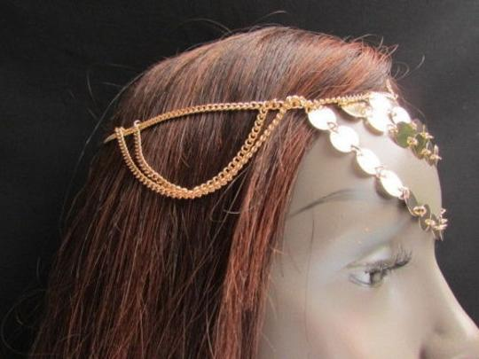 Other Women Chain Gold Head Falling Rain Fashion Jewerly Round Sparkling Front Circles