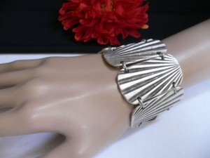 Other Women Bracelet Hand Silver Metal Links African Tribal Sun Shine Turkey Made