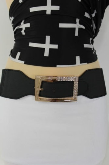 Preload https://item3.tradesy.com/images/women-tie-belt-black-red-brown-white-hip-waist-big-gold-buckle-plus-4289182-0-0.jpg?width=440&height=440