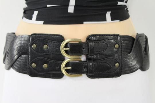 Preload https://item4.tradesy.com/images/women-elastic-black-belt-double-gold-buckle-hip-waist-braided-faux-leather-4289233-0-0.jpg?width=440&height=440