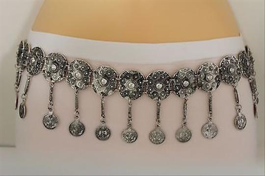 Other Women Belt Hip Waist Belly Coin Wide Silver Metal Chain Moroccan Fashion