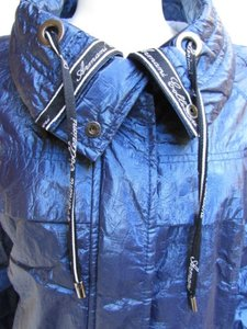Armani Collezioni Women Metallic Fashion Jacket Water Repellent 842 Coat