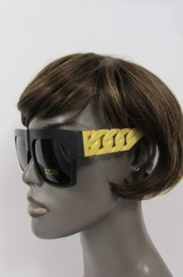 Other Women Men Sunglasses Fashion Plastic Trendy Black Thick Chunky Gold Chains