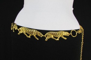 Other Women Fashion Belt Gold Metal Tiger Chains Panther Hip Waist 26-36
