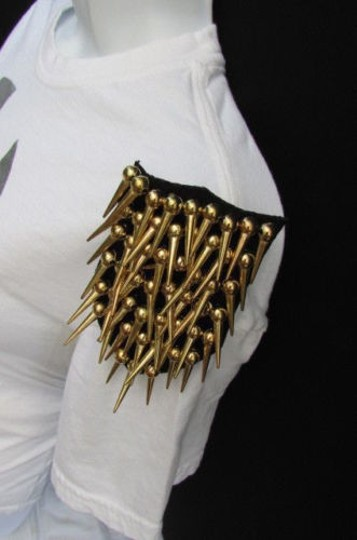 Other Women Shoulder Pin Broach Lady One Long Gold Spikes Body Jewelry Gaga M.j.