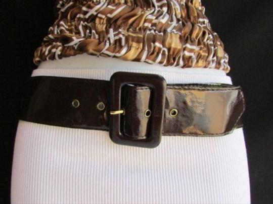 Preload https://item2.tradesy.com/images/women-belt-buckle-fashion-brown-faux-patent-leather-big-square-25-29-4289791-0-0.jpg?width=440&height=440