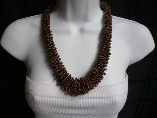 Preload https://item3.tradesy.com/images/women-brown-bronze-beads-thick-strand-indonesian-trendy-fashion-necklace-4289887-0-0.jpg?width=440&height=440