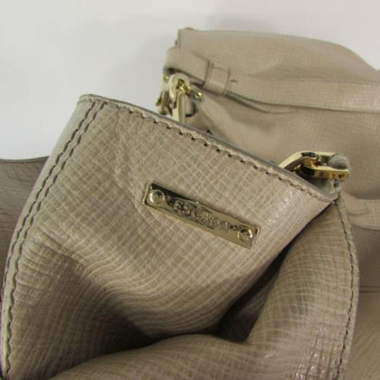 Escada Leather Shoulder Purse Hobo Handbag Gold Hardwear Tote in Beige