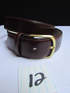 Alwaystyle4you Women Brown Leather Classic Fashion Thin Belt Gold Buckle 29-33