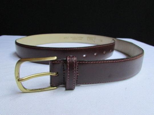 Alwaystyle4you Women Brown Leather Classic Fashion Thin Belt Gold Buckle 29-33 Image 2