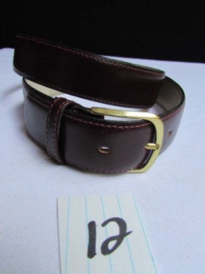 Alwaystyle4you Women Brown Leather Classic Fashion Thin Belt Gold Buckle 29-33 Image 7
