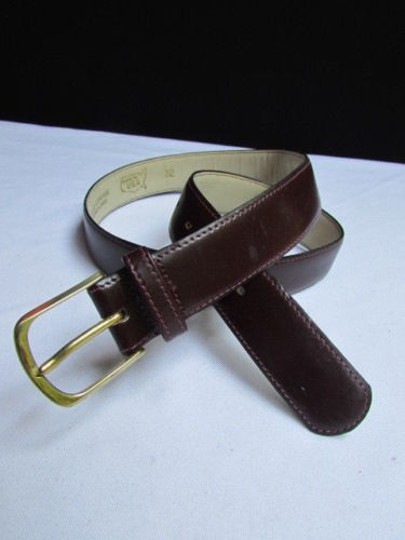 Alwaystyle4you Women Brown Leather Classic Fashion Thin Belt Gold Buckle 29-33 Image 9