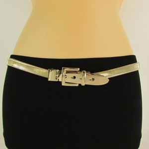 Other Women Belt Fashion Gold Silver Skinny Elastic Metal Hip Waist Plus