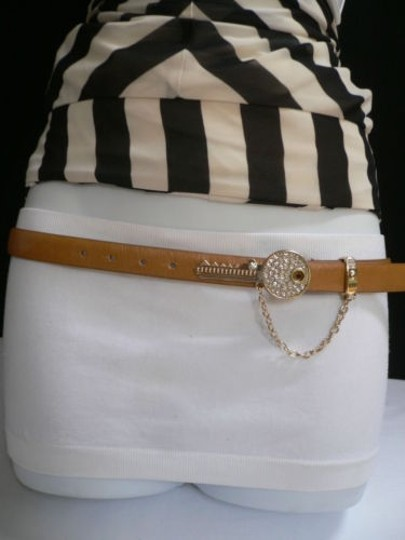 Preload https://img-static.tradesy.com/item/4290088/women-hip-waist-brown-thin-fashion-belt-metal-gold-key-buckle-33-39-0-0-540-540.jpg