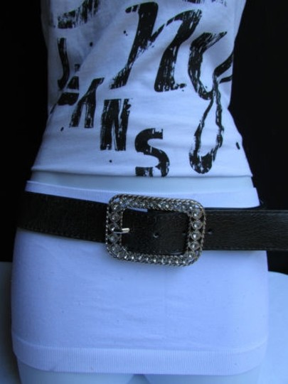 Other Women Flowers Rhinestones Black Moroccan Beads Fashion Belt 32-36