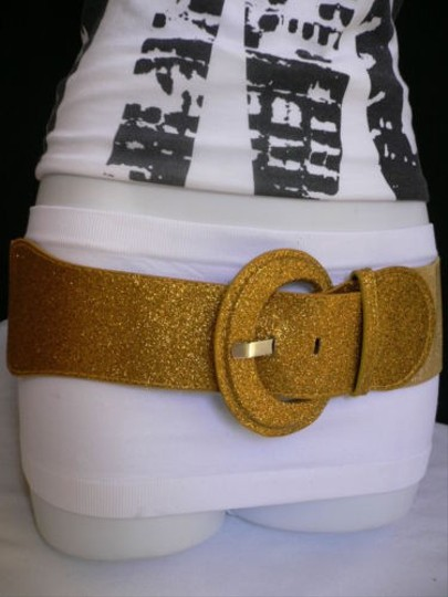 Other Women Hip Elastic H. Waist Sparkling Gold Fashion Belt Holidays 26-38 Xs-l