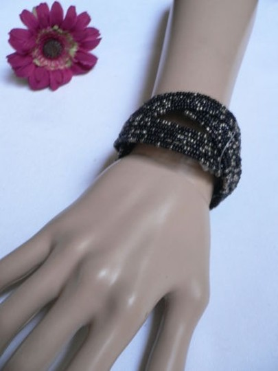 Other Women Black Metal Cuff Wide Fashion Metal Bracelet Trendy Casual Style