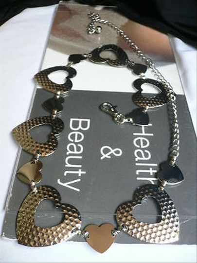 Alwaystyle4you Women Silver Mesh Metal Thin Fashion Metal Chains Belt Hearts Image 1