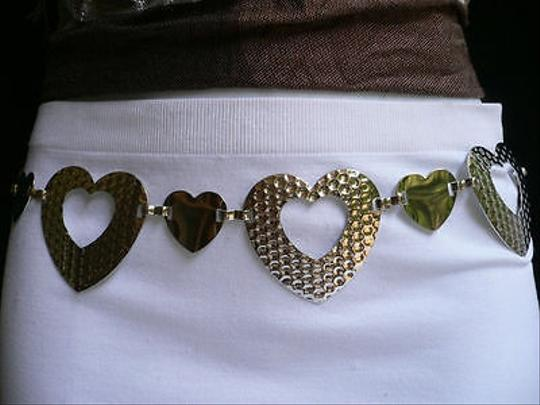 Other Women Silver Mesh Metal Thin Fashion Metal Chains Belt Hearts 27-37