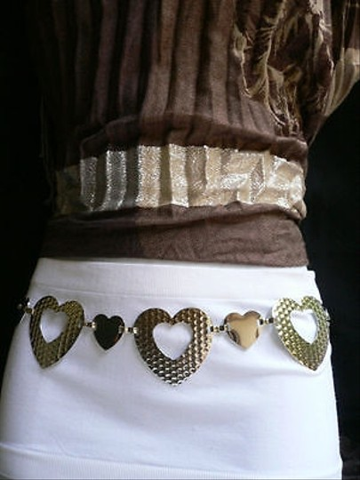 Alwaystyle4you Women Silver Mesh Metal Thin Fashion Metal Chains Belt Hearts Image 4