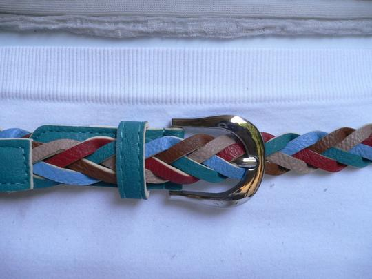 Alwaystyle4you Women Braided Teal Thin Fashion Belt Red Brown Blue Beige Image 10
