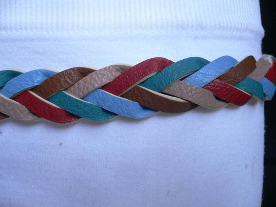 Alwaystyle4you Women Braided Teal Thin Fashion Belt Red Brown Blue Beige Image 4