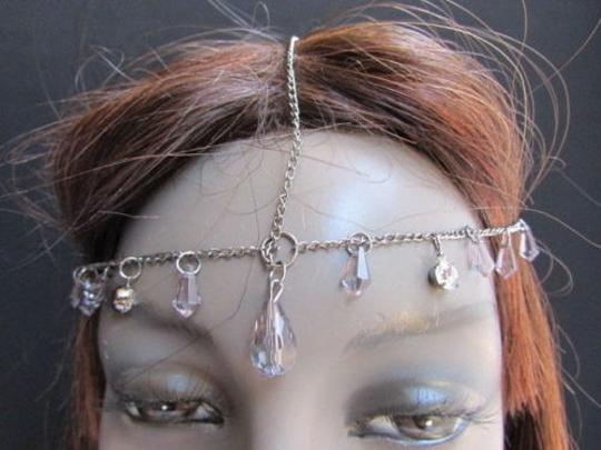 Alwaystyle4you Women Pewter Metal Head Thin Chain Clear Beads Headband Image 8