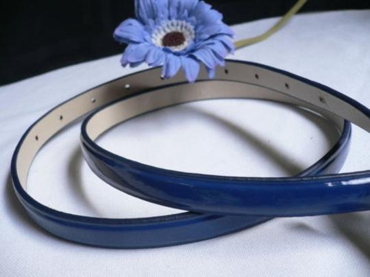 Alwaystyle4you Women Fun Real Blue Thin Faux Leather Belt Big Candy Buckle Image 3