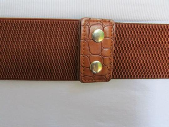 Other Women Brown Elastic Rings Braided Trendy Fashion Belt 27-33