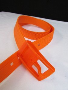 Women Waist Hip Scented Plastic Orange Fashion Belt Plus 37-41