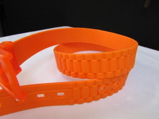 Other Women Waist Hip Scented Plastic Orange Fashion Belt Plus 37-41