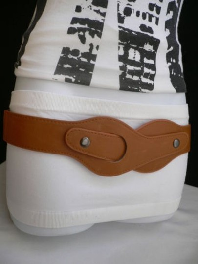 Other Women Elastic Hip Waist Western L. Brown Fashion Belt Inside Out 28-36