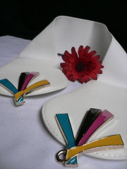Other Women White Faux Leather Fashion Belt Pink Blue Black Buckle 27-35