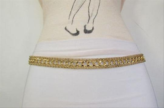 Other Women Fashion Gold Metal Thin Belt Hip High Waist Dressy 28-40