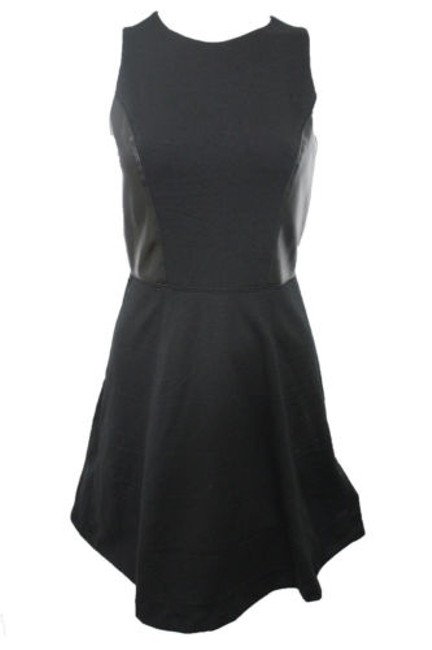 Preload https://item3.tradesy.com/images/banana-republic-women-black-gray-dress-faux-leather-0-4291087-0-0.jpg?width=400&height=650