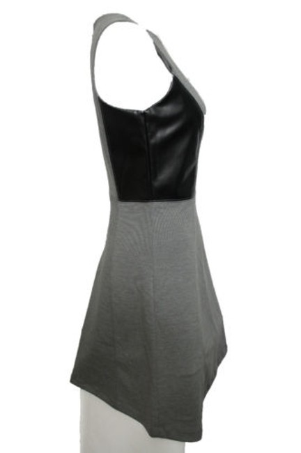Banana Republic short dress Women Black Gray Faux Leather 0 on Tradesy