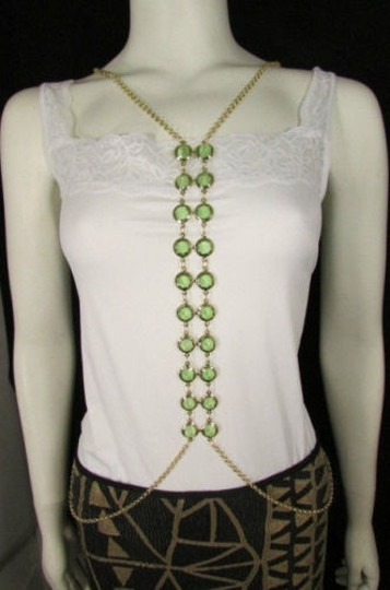 Preload https://item5.tradesy.com/images/women-gold-long-body-chain-front-row-green-beads-fashion-jewelry-beads-4291189-0-0.jpg?width=440&height=440