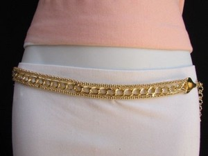 Women Waist Hip Thick Gold Metal Chunky Chains Belt Plus 30-50