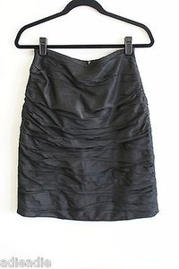 Teri Jon By Rickie Freeman Silk Taffeta Ruched Skirt Black