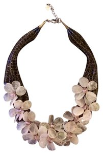 Other Pink and Smoky Quartz Statement Necklace