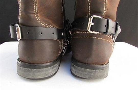 Alwaystyle4you Men Flower Pair Strap Black Boots Image 11
