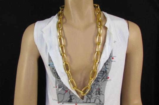 Other Men Chunky Metal Thick Chains 35 Long Fashion Necklace Silver Gold Hip Hop