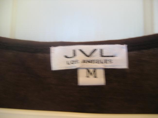 JVL Los Angeles American Machine Washable Cotton T Shirt Brown